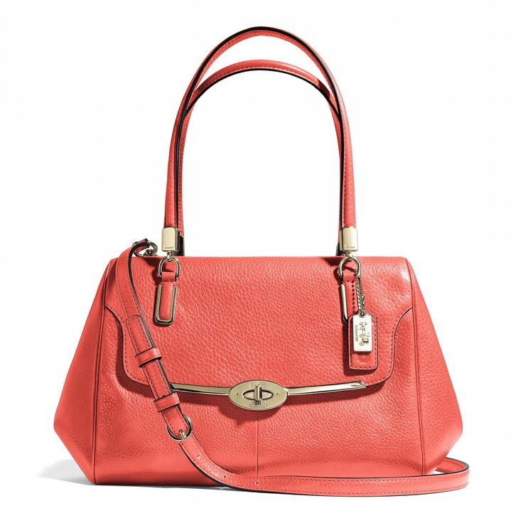 Madison Small Madeline East/West Satchel in Leather from Coach