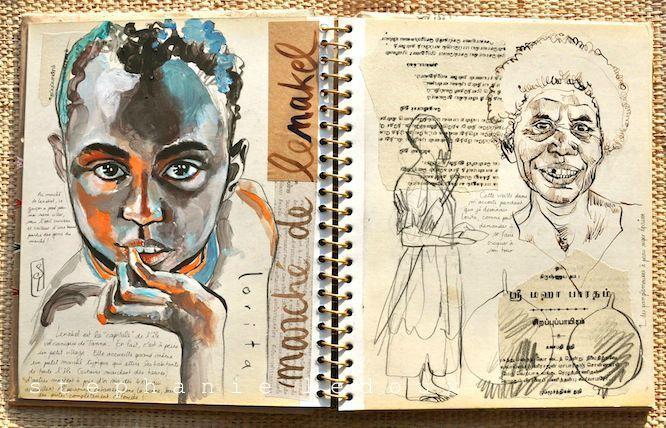 Le carnet de voyage, quelle merveilleuse idée ! / The travel journal, what a marvellous idea ! / By Stephanie Ledoux.l