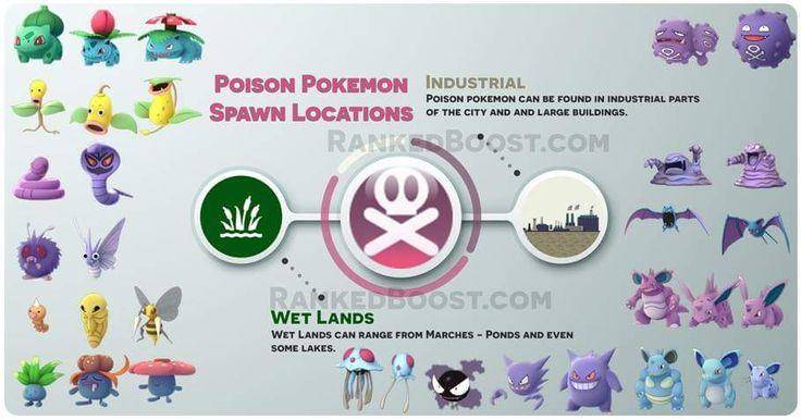 poison pokemon spawn locations
