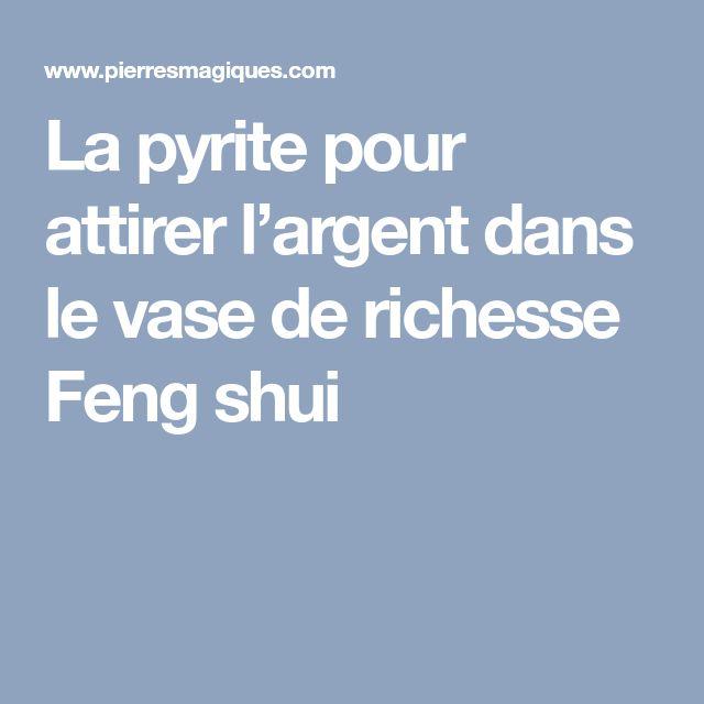 La pyrite pour attirer l'argent dans le vase de richesse Feng shui
