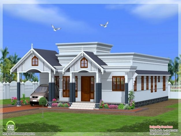 Marvelous Single Storey House Plans And Elevations Homes Zone 1500sqft Single Storey Indian Contemporary Kerala House Design Bungalow House Design House Plans