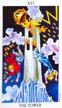 Tower Tarot Card Meanings Keywords    Upright: Disaster, upheaval, sudden change, revelation    Reversed: Avoidance of disaster, fear of change