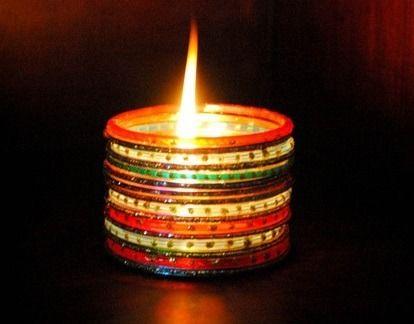 Bangles Lamp Craft for kids