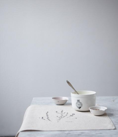 linen napkins, illustration by Melinda Josie, Herriott Grace shop