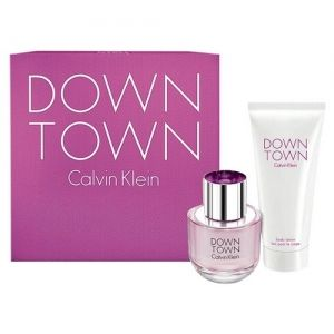 Calvin Klein - Down Town 50 ml EDP + 100 ml SG gavesæt - Kvinder