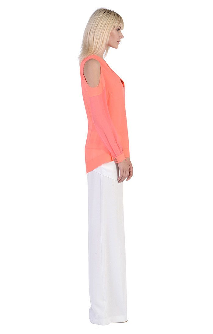 ISABELLE TOP | NEON CORAL - Stella and Jamie