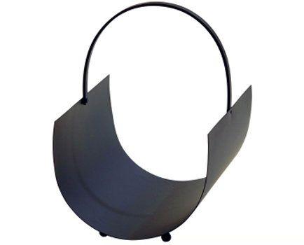 Black metal fireside log holder available at Browsers Furniture Co., Limerick, Ireland.