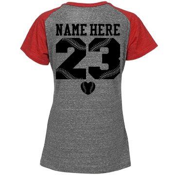 Personalize a #baseballgirlfriend jersey t-shirt to wear to all your boyfriend's games. Baseball wives can wear them as well! Change the back name and numbers.