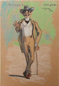 'Thea is nog jong…ik heb geduld' W. Sluiter ( 1873 – 1949 ), pastel, 25 x 17 cm, ges. r.b. en 1902 met annotatie Willy Sluiter vervaardigde deze tekening voor Thérèse (Thea) Blommers, de dochter van de schilder B.J. Blommers. Ze was geboren in 1891 en dus 11 jaar oud toen Sluiter de tekening maakte. Samen met haar zus Marie Zoetelief Tromp-Blommers, bevriend met onder meer Piet Mondriaan, ging ze vaak dansen bij Hamdorff in Laren.Amsterdamse impressionisten, co | Hein A.M. Klaver Kunsthandel