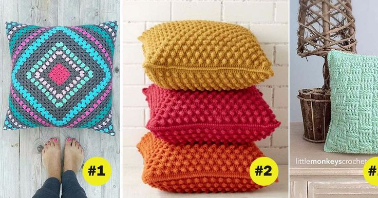 Learn how to crochet 7 awesome pillows (videos & written instructions)