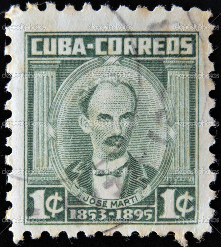 Cuba - circa 1953: un sello impreso en cuba demuestra retrato del ...