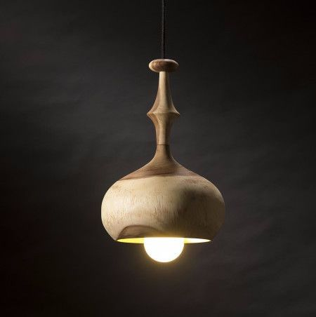 Available in three shapes, this unique range of turned timber pendants is hand crafted from sustainably sourced Acacia - maybe an option for the entrance hall?