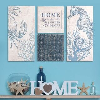Shop for Stratton Home Decor Coastal Art (Set of 4). Get free delivery at…