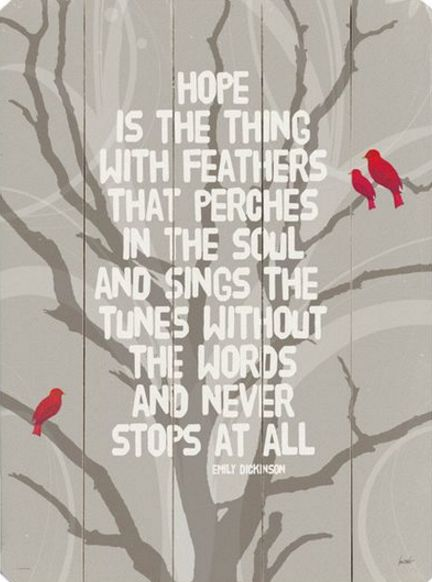 ☼ Emily Dickinson ☼ Hope is the Thing With Feathers   Nathalie Viens   Joss & Main