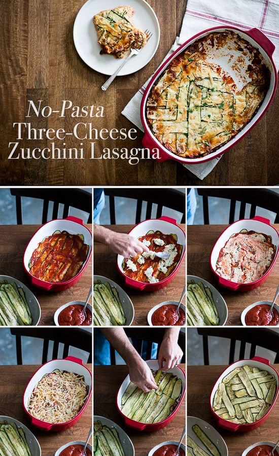 No Pasta, Zucchini Lower-Carb Lasagna is satisfying and delicious   @whiteonrice