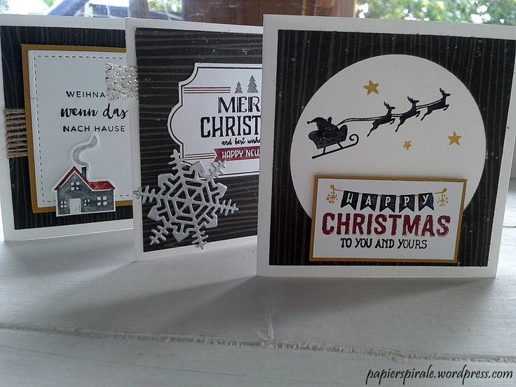 kleine Weihnachtskarten für die Pizzabox