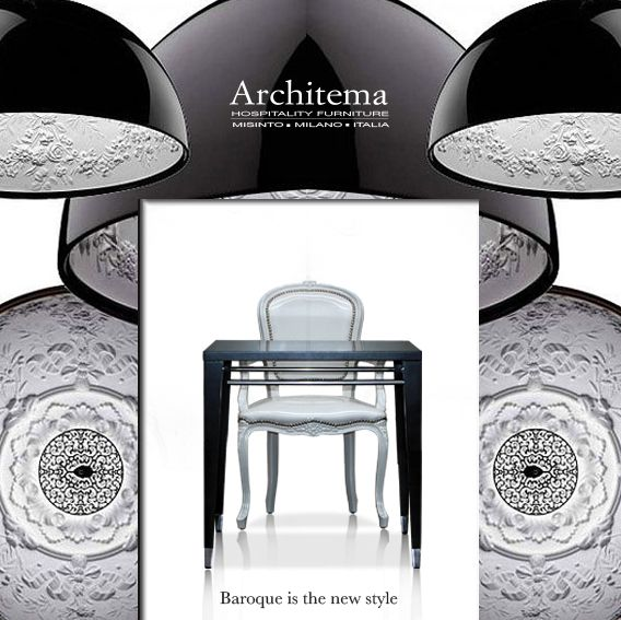 ARCHITEMA - 501-A dining armchair in WHITE vinyl