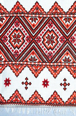 Embroidered handmade good by cross-stitch pattern | High resolution stock photo | ID 3903478