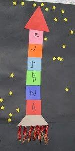 """""""Name Rockets"""" (from Mrs. Karen's Preschool Ideas)"""