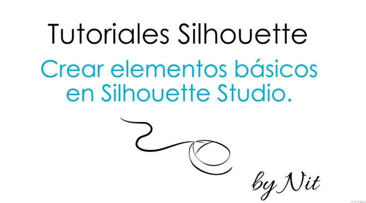 Crear elementos básicos en Silhouette Studio (Español) banners, etiquetas, camaras, etc. Excelente tutorial