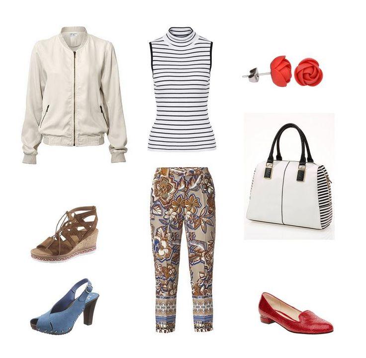 Oblečenie pre moletky - outfit pre moletky - bluzón, pásikavé tričko a vzorkované nohavice