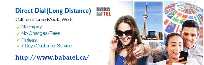Looking for high quality long distance calling plans from Canada? Through Direct Dial, Babatel offers high quality long distance phone service with unlimited calling facility. Contact today for more information.