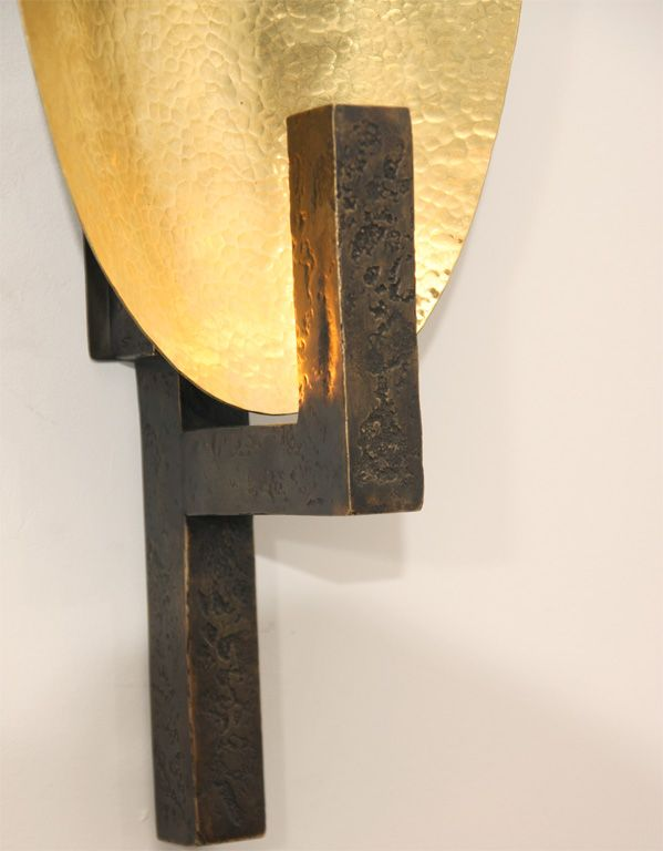 Contemporary Bronze Sconce By Hervé Van Der Straeten | From A Unique  Collection Of Antique And