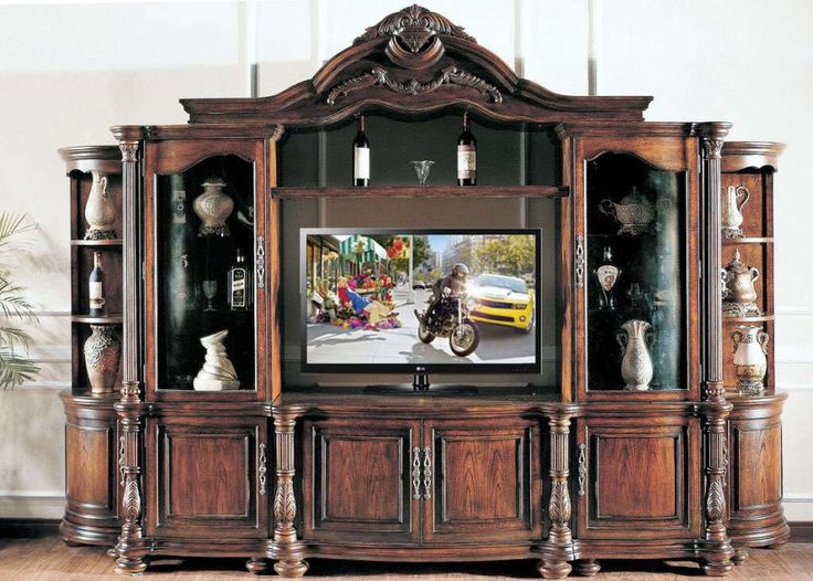 Large Ornate Mahagany Wall Unit TV Entertainment Center in Entertainment Units, TV Stands | eBay