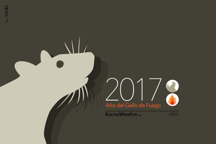 Rata 2017 - Horóscopo chino 2017 para el signo de la #rata durante el Año del Gallo 2017. Por Karma Weather #zodiaco #horoscopo #anonuevo #anonuevochino #karmaweather