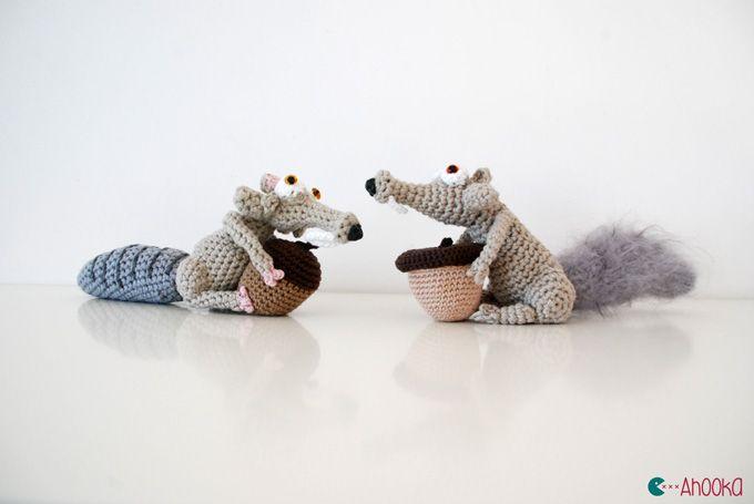 Amigurumi Scrat from Ice Age - FREE Crochet Pattern / Tutorial