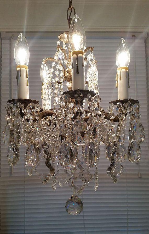 Items similar to Paris Apartment Chandelier Antique