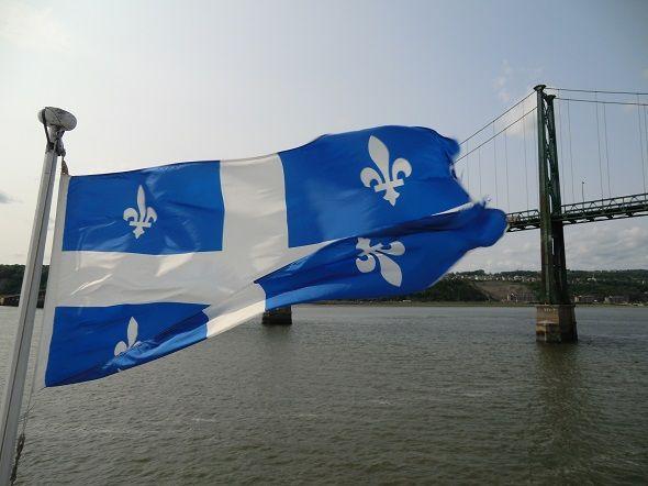 Bandiera del Quebec in gita sul battello a Quebec City...visita il mio blog per il racconto di quel viaggio http://unapasseggeraintransito.wordpress.com/canada/in-transito-a-quebec-city/