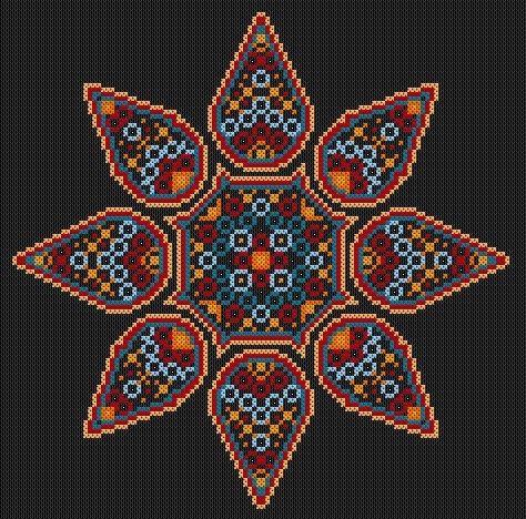 Desert Gypsy Mandala Cross Stitch PDF Chart by TheEndlessKnot, £4.00