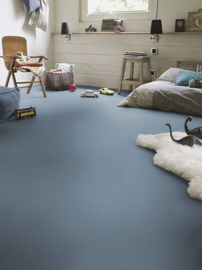 Vinyl floor covering / printed / colored concrete look / acoustic  EXCLUSIVE: 260 POP UP