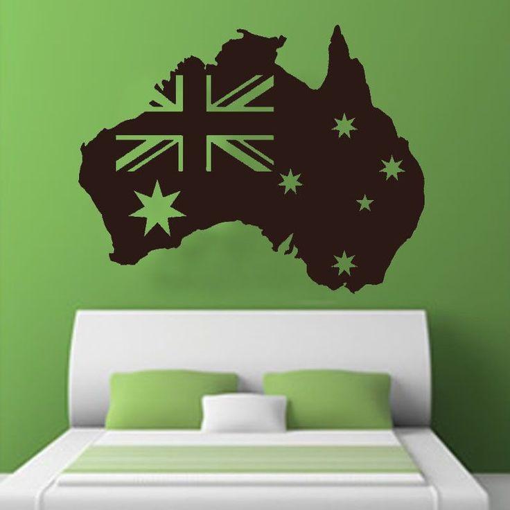 Removable Australian Flag Wall Sticker