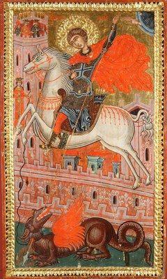 Korçë, Muzeu Kombëtar i Artit Mesjetar Ikonë, Shën Gjergji Shek. XVII - XVIII