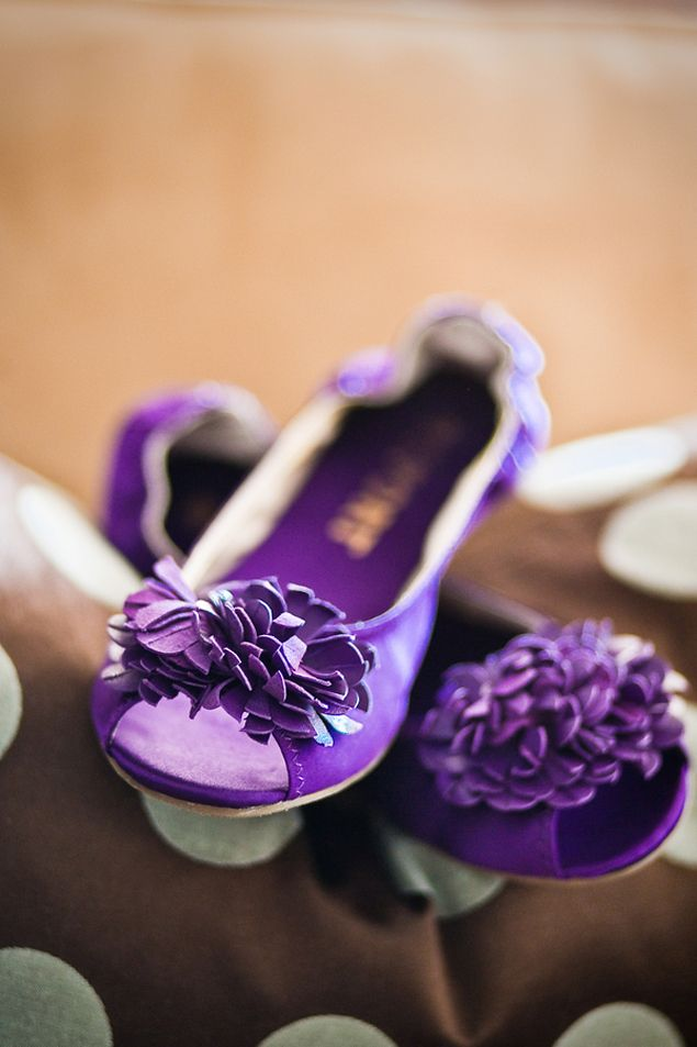 Purple Wedding Flats - Photo Source • Drew & Megan Photography