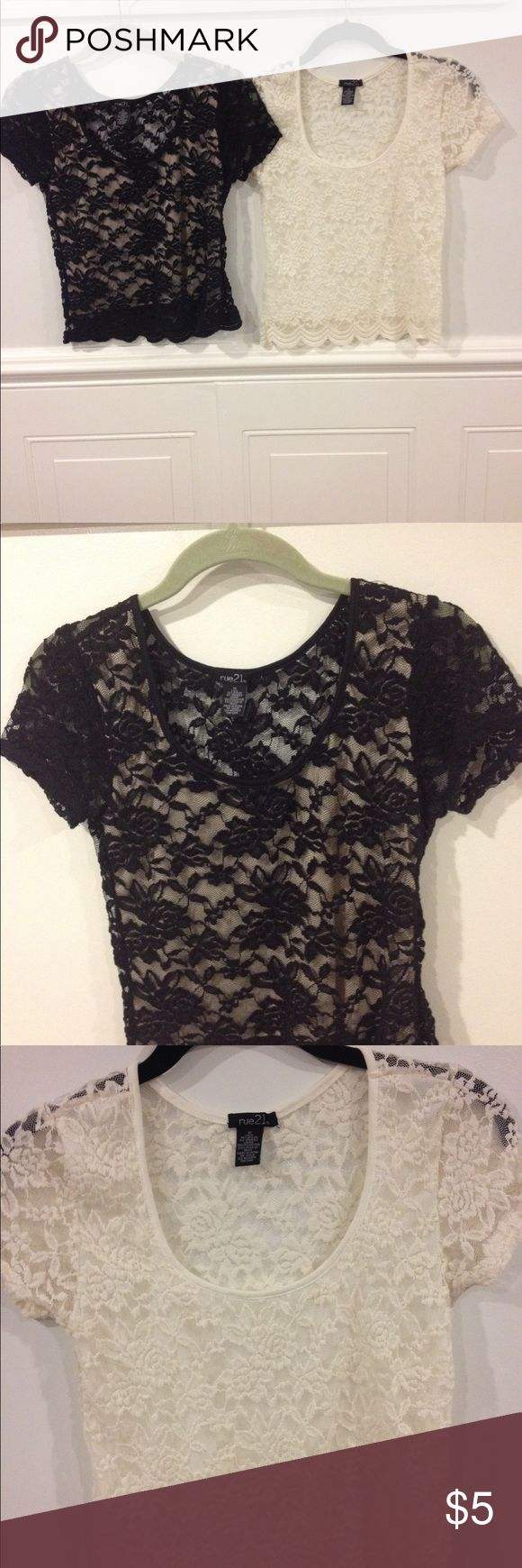 Rue21 Medium tops good condition Size Medium Rue21 tops good condition the set is 5.00 Rue 21 Tops