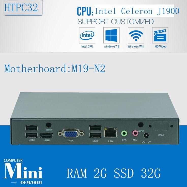 Cheap Mini Desktop PC Intel J1900 Mini PC Desktop Computer Thin Client X86 Board Window 8.1 OS Computer With RAM 2G SSD 32G