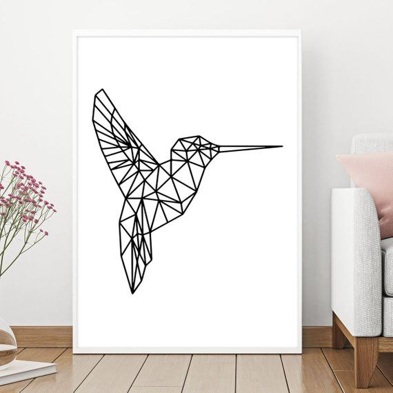 Hummingbird Geometric Hummingbird Hummingbird Wall Art Etsy Hummingbird Wall Art Geometric Art Etsy Wall Art