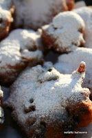 Racuchy drożdżowe z rabarbarem, na słodko