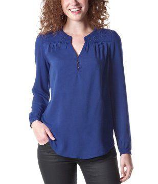 Blusa folk azul cobalto - Promod