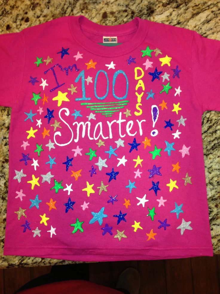 100 days smarter shirt for 100th day celebration for 100th day of school decoration ideas