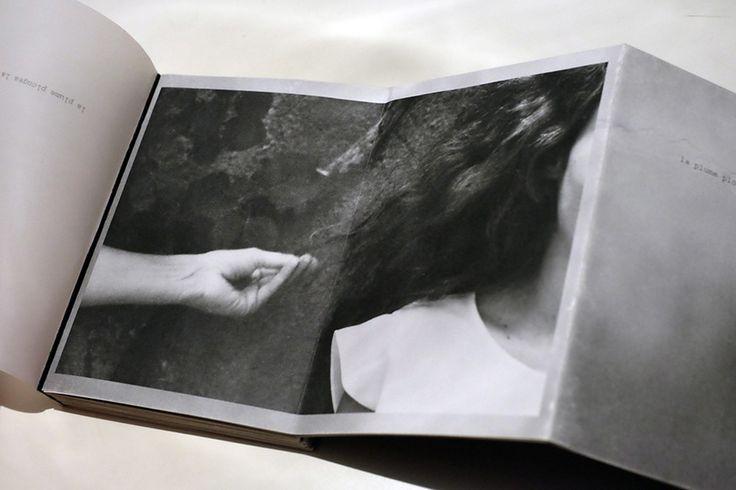 La plume plongea la tete, handmade artist book, 2015.  Photography and design © Sara Palmieri www.sarapalmieri.com