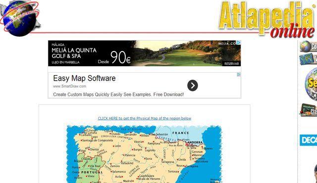 Atlapedia, mapas físicos y políticos de todos los países del mundo