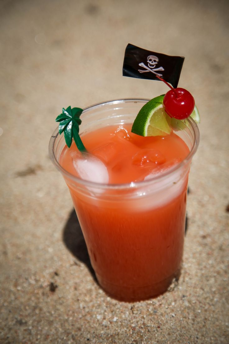 Caribbean Rum Punch For one drink: Fill a glass with ice and add: 5 oz. orange juice 5 oz pineapple juice 2 oz. Bacardi 151 1 oz. Myers Dark Rum 1 oz Malibu coconut rum 1 oz Captain Morgan 90 proof Coconut Rum 1 oz lime juice 1 good splash of red Grenadine for color Shake and poor into a clean cold class.