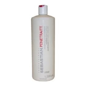 Sebastian Penetraitt Strengthening and Repair Conditioner, 33.80-Ounce, (shampoos and conditioner, hair care, leave in conditioner, beauty, bar, bar code, not a scunci bar code, remember, sebastian hair products, sebastian penetraitt)