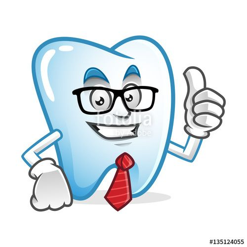 """Download the royalty-free vector """"Businessman tooth mascot wearing glasses and tie, tooth character, tooth cartoon vector """" designed by IronVector at the lowest price on Fotolia.com. Browse our cheap image bank online to find the perfect stock vector for your marketing projects!"""