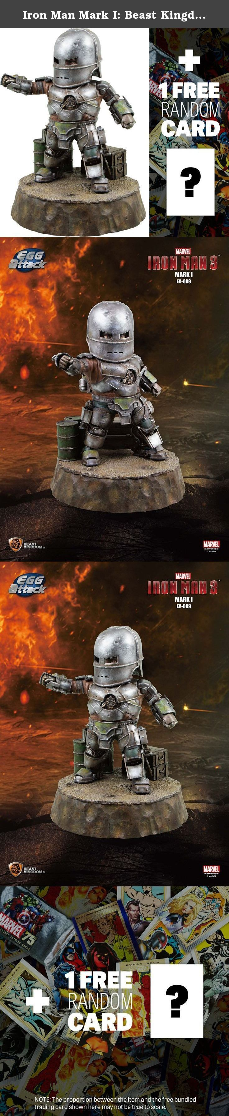 Iron Man Mark I: Beast Kingdom Egg Attack x Iron Man 3 Statue + 1 FREE Official Marvel Trading Card Bundle. Iron Man Mk.I as a polystone statue! A ~7.8 inch polystone figure of the Iron Man Mark I armor from Beast Kingdom! From the movie 'Iron Man 3' comes a figure of the original Iron Man Mark I armor, seemingly built from various odds and ends. The figure has been very intricately sculpted, with color job that faithfully reproduces the metallic appearance of the armor. The reactor in…