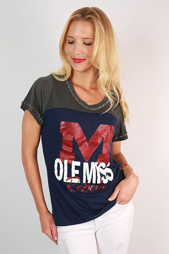 University of Mississippi Football Burnout Tee